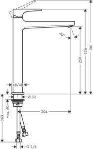 Hansgrohe Metropol Çanak Lavabo Bataryası-Mat Siyah - Thumbnail