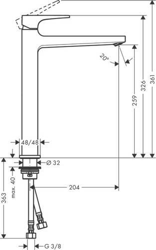 Hansgrohe Metropol Çanak Lavabo Bataryası-Mat Siyah