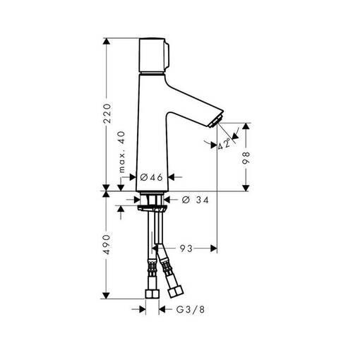 Hansgrohe Talis Select S Lavabo Bataryası
